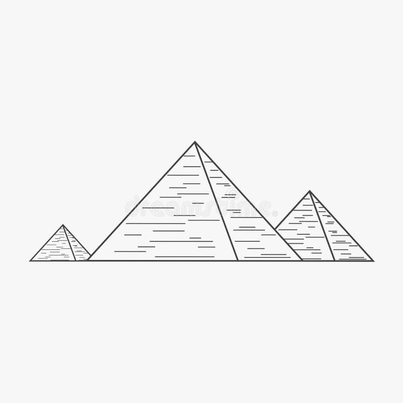 金字塔浅黑概述设计象 向量例证