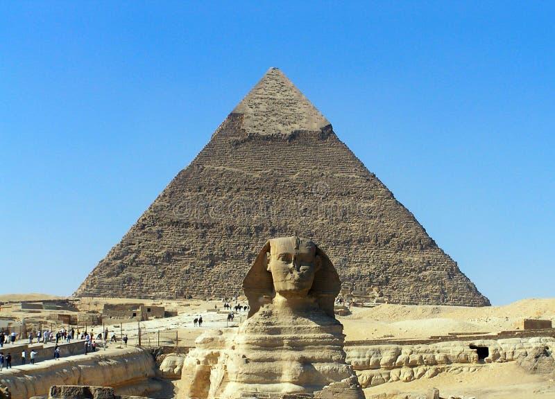 金字塔狮身人面象 免版税库存照片