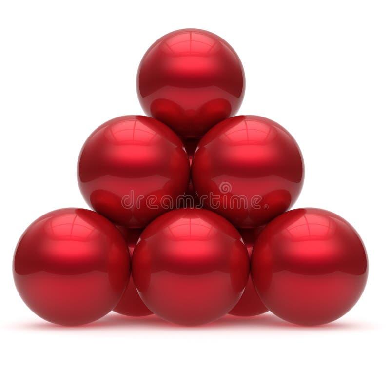 金字塔球形球红色阶层公司最高领导 库存例证