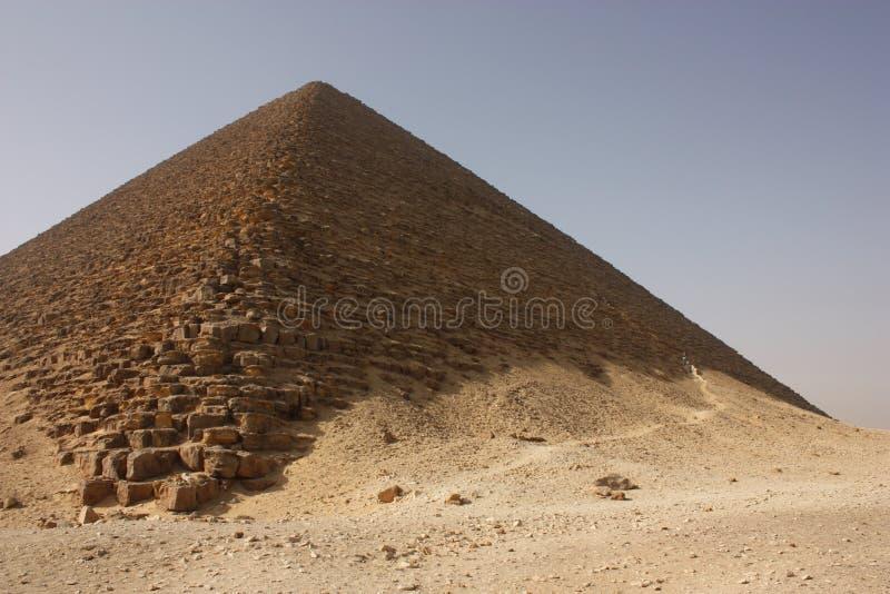 金字塔红色 库存图片