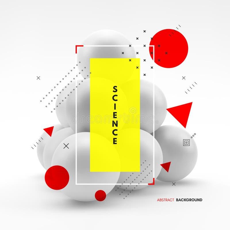 金字塔组成由小球形 3d企业概念例证 : 皇族释放例证