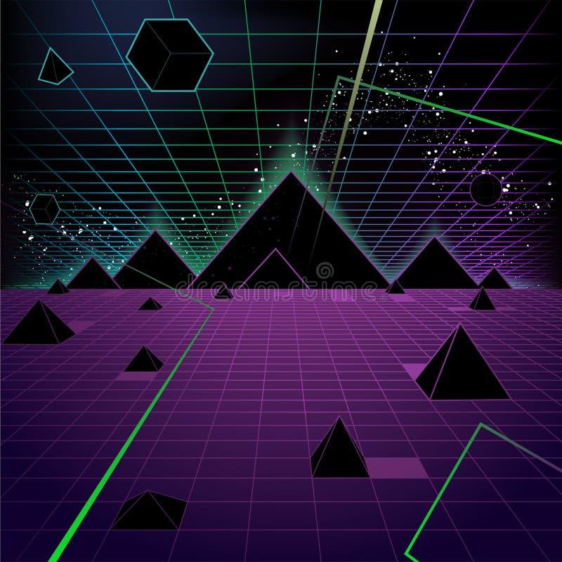 金字塔背景 库存例证