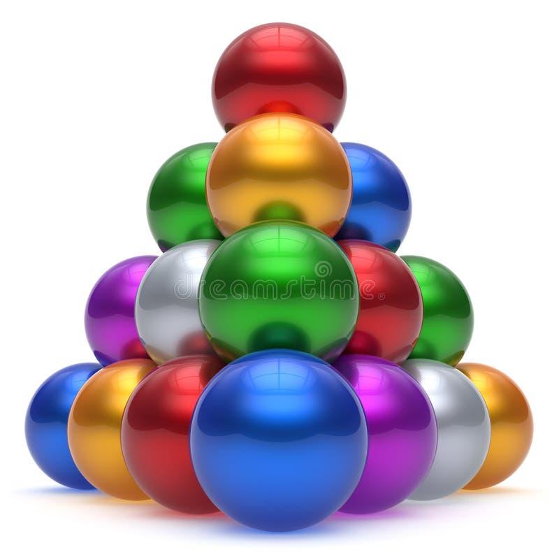 金字塔阶层公司球形球红顶领导 向量例证