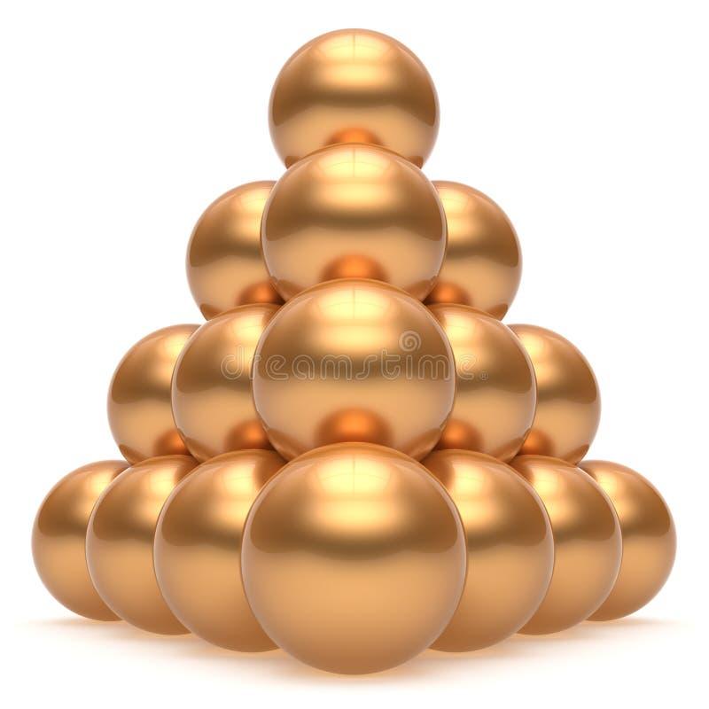 金字塔阶层公司球形球金上面顺序领导 皇族释放例证
