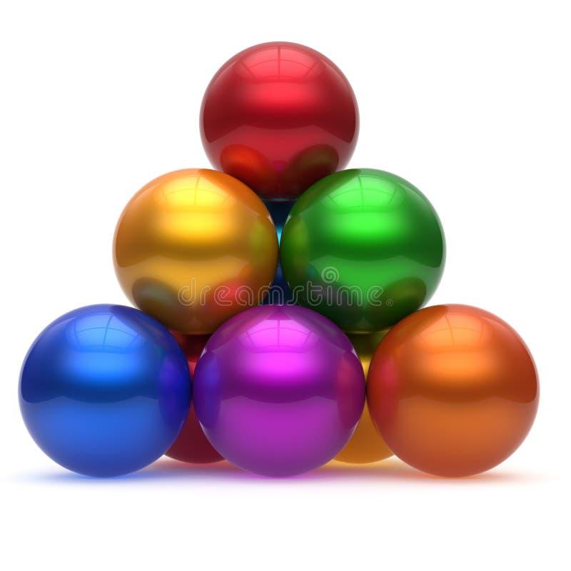 金字塔阶层球形球公司上面顺序领导 向量例证
