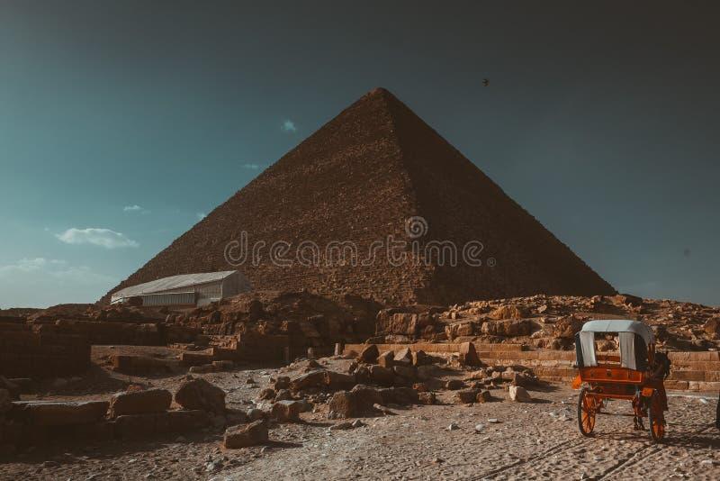 金字塔,天空,埃及,旅行,老,历史,岩石,修造, 免版税库存图片