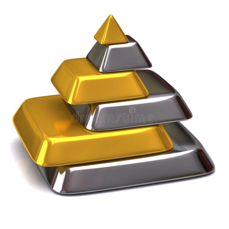 金字塔 库存例证