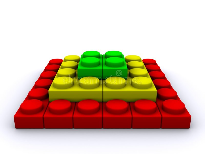 金字塔 向量例证
