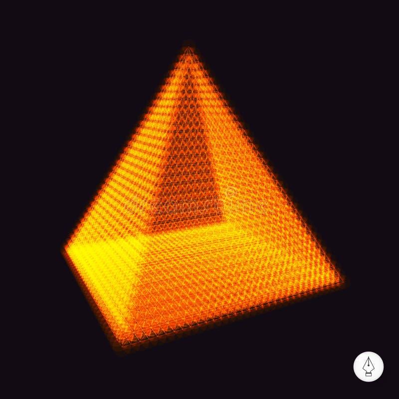 金字塔 3d例证向量 皇族释放例证