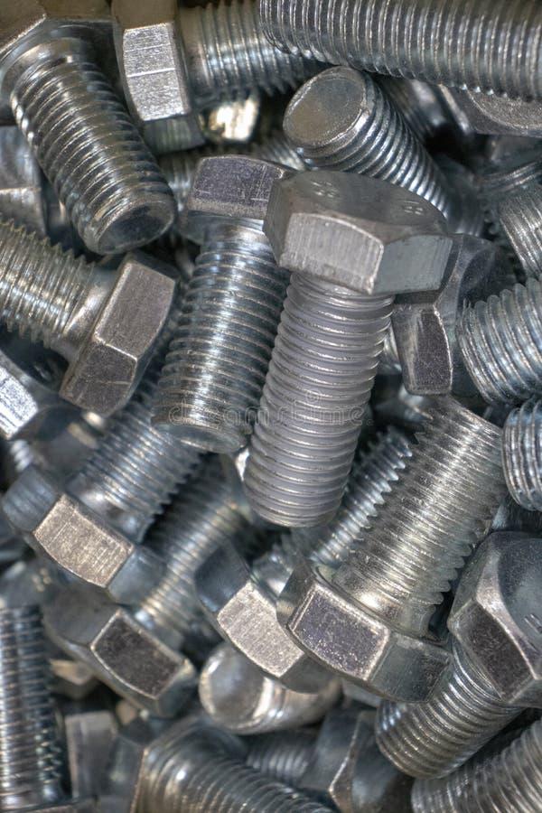 金属为铁和木零件的连接闩上 免版税库存照片