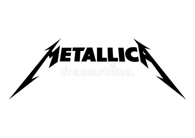 金属乐队商标 向量例证
