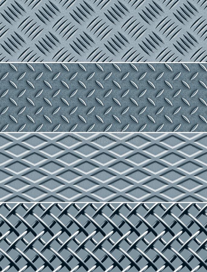 金属仿造无缝的纹理 库存例证