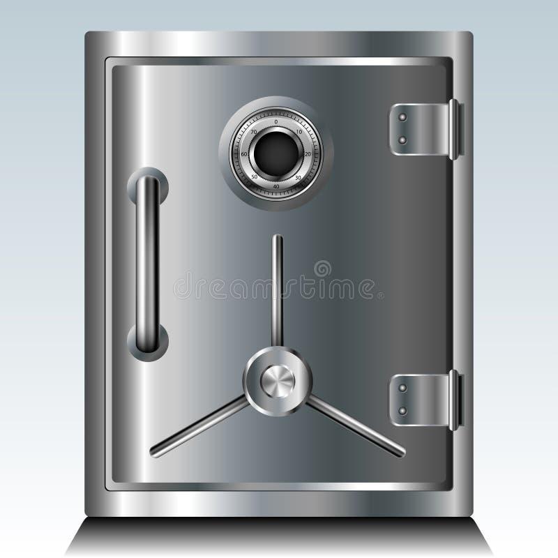 金属保险柜 库存例证