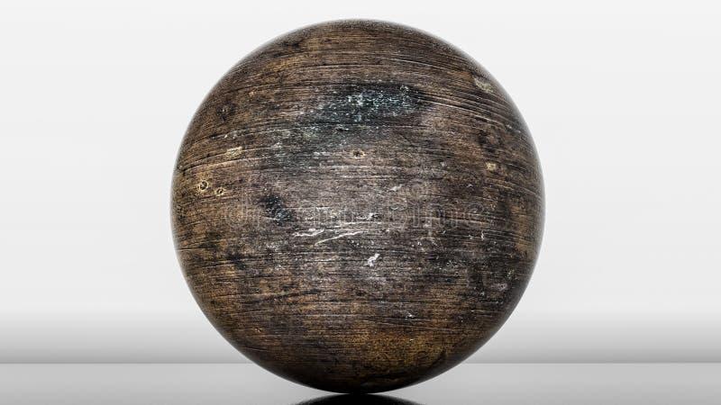 金属光滑的球形 3d?? 向量例证