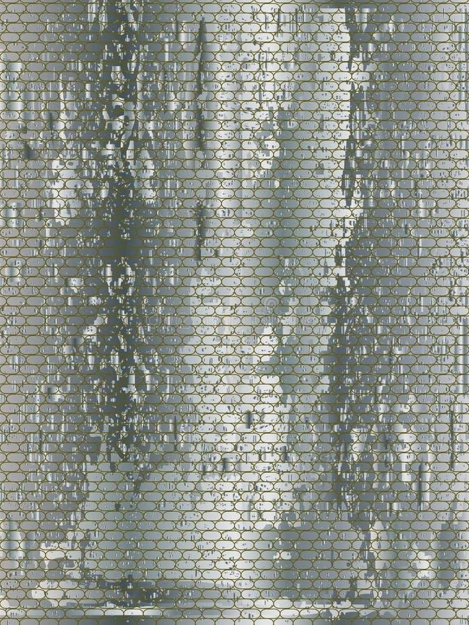 金属净肮脏的背景 向量例证