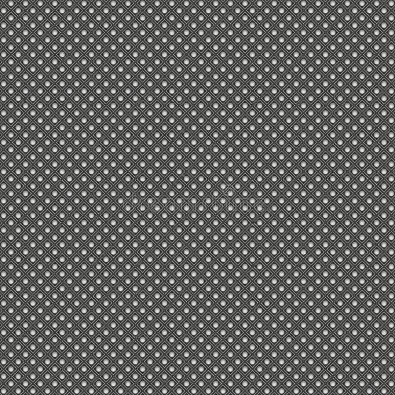 金属几何无缝的背景样式 3d回报illust 库存例证