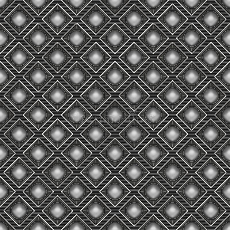 金属几何无缝的背景样式 3d回报illust 向量例证