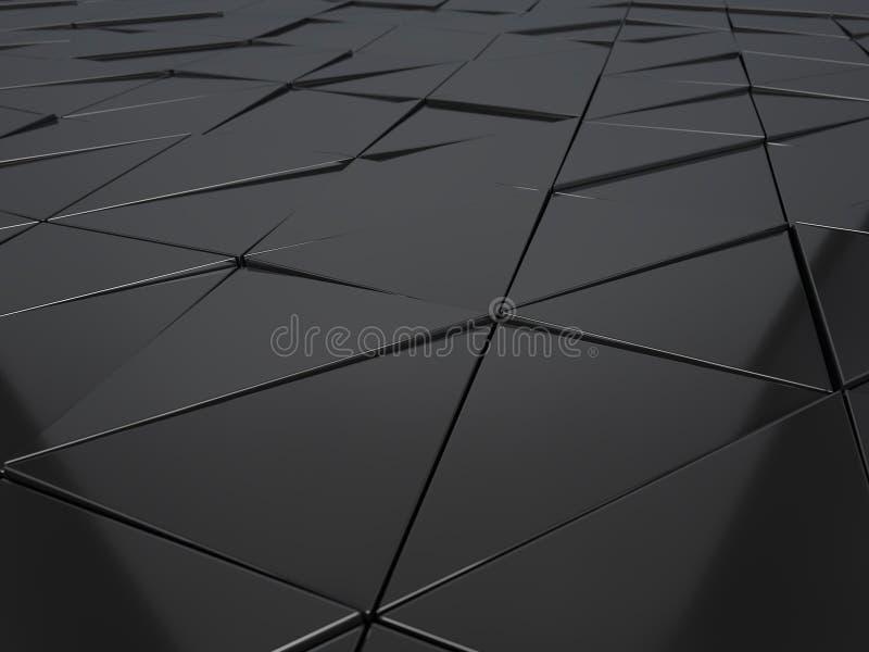 金属几何盘区抽象3d翻译  库存图片