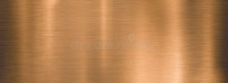 金属刷铜宽纹纹板或板块 免版税图库摄影