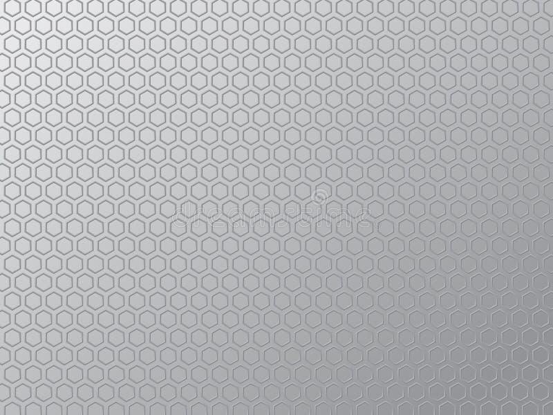 金属化格栅纹理 向量例证