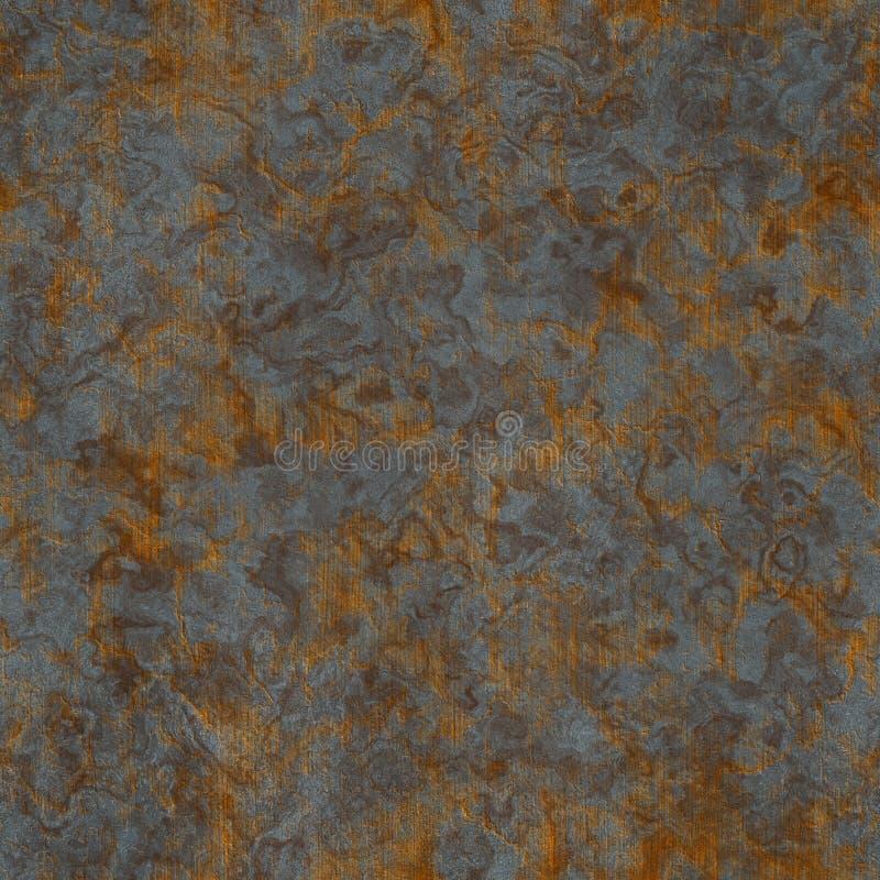 金属化生锈的无缝的纹理 图库摄影