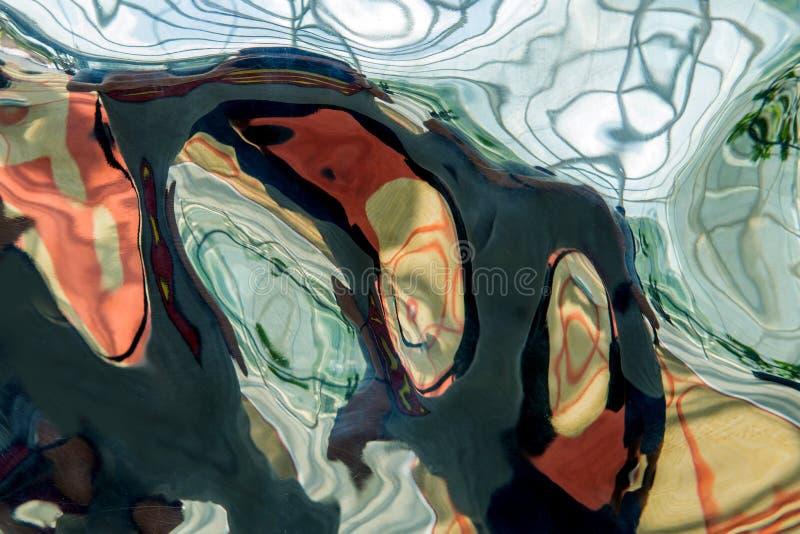 金属化纹理背景的波纹和波浪摘要 免版税库存图片