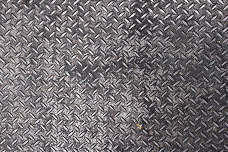金属十字架粗砂1舱口盖的纹理 免版税库存图片