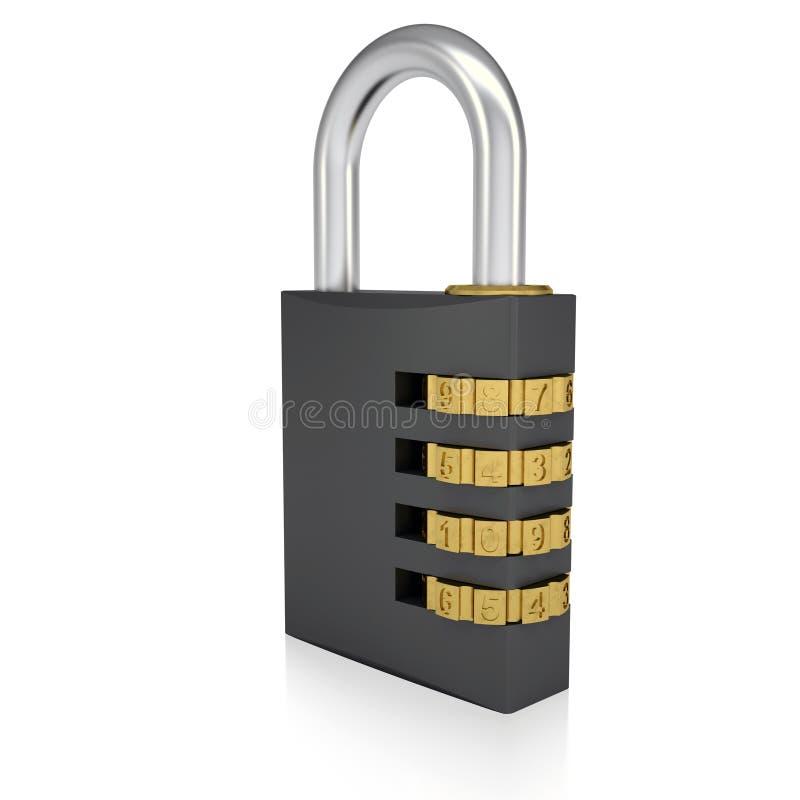 金属号码锁 皇族释放例证