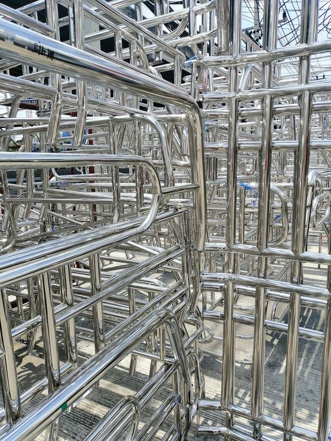 金属和铝钢制框架 免版税库存照片