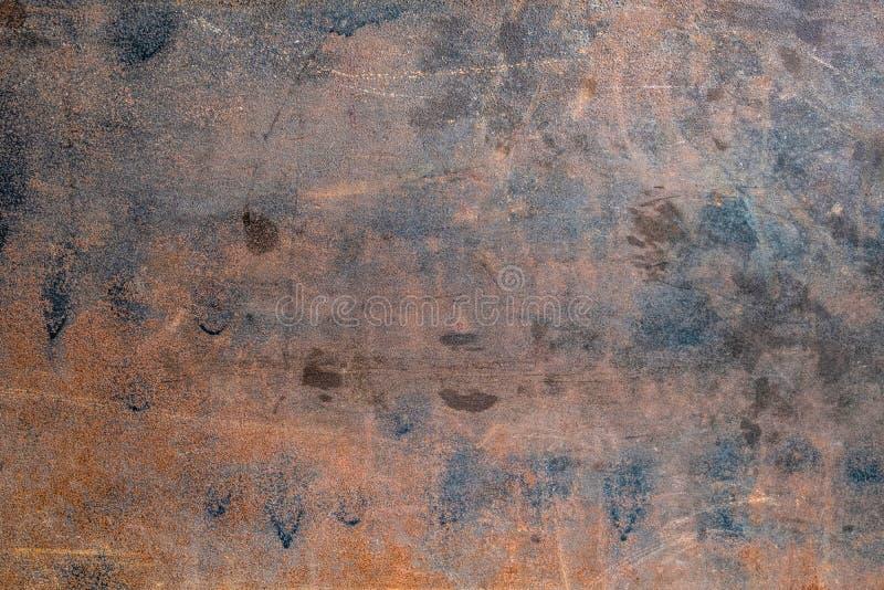 金属和难看的东西纹理生锈的板料  免版税库存图片