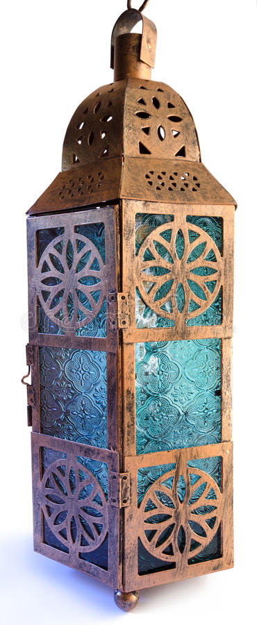 金属和玻璃灯笼 免版税库存图片