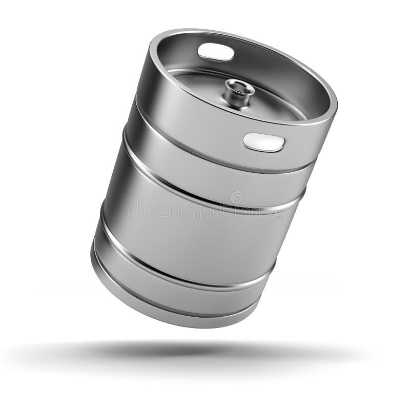 金属啤酒小桶 皇族释放例证