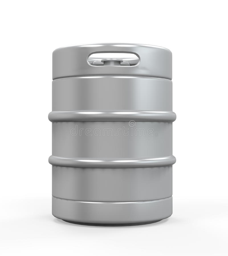 金属啤酒小桶 向量例证