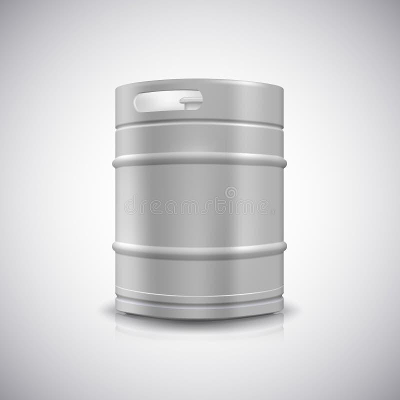 金属啤酒小桶 库存例证