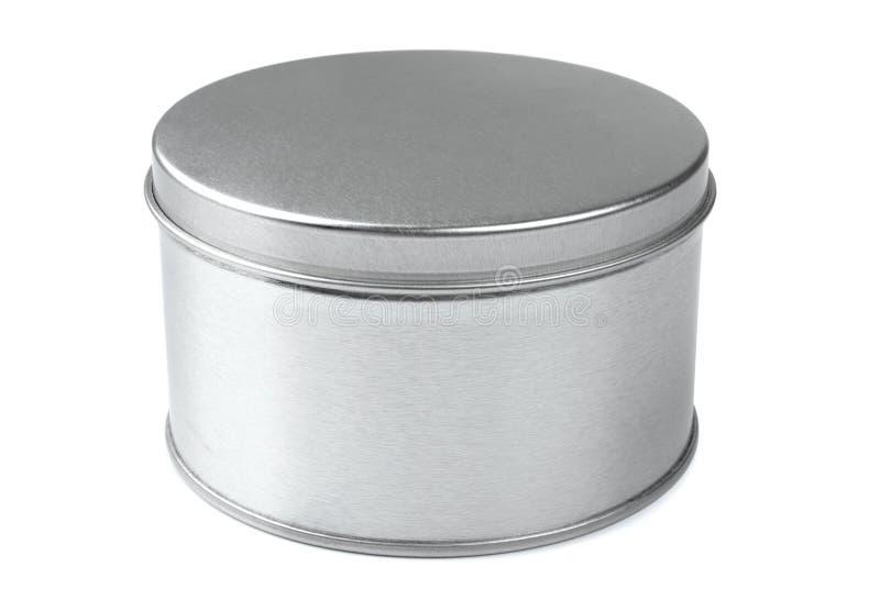 金属圆的箱子 库存照片