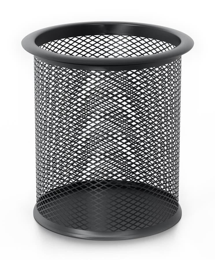 金属在白色背景隔绝的铅笔持有人 3d例证 向量例证
