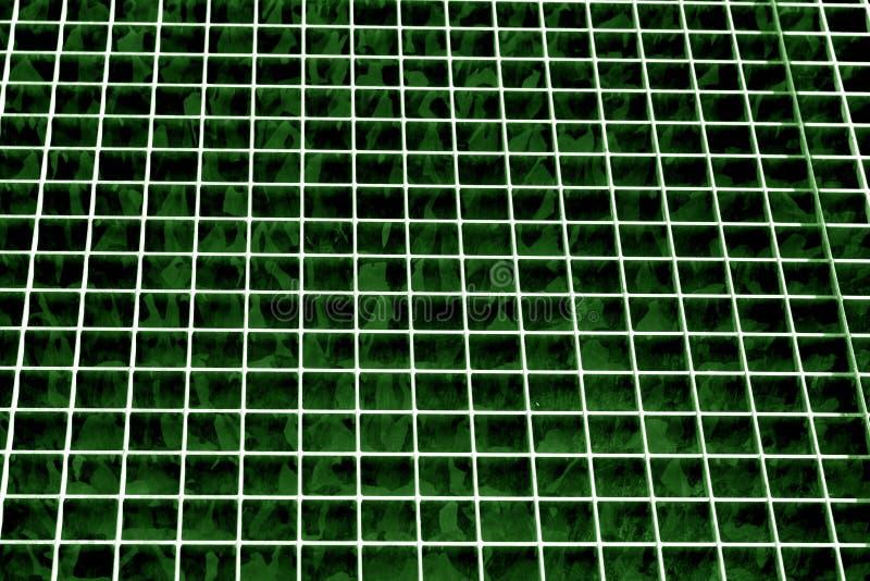金属在绿色口气的栅格纹理 皇族释放例证