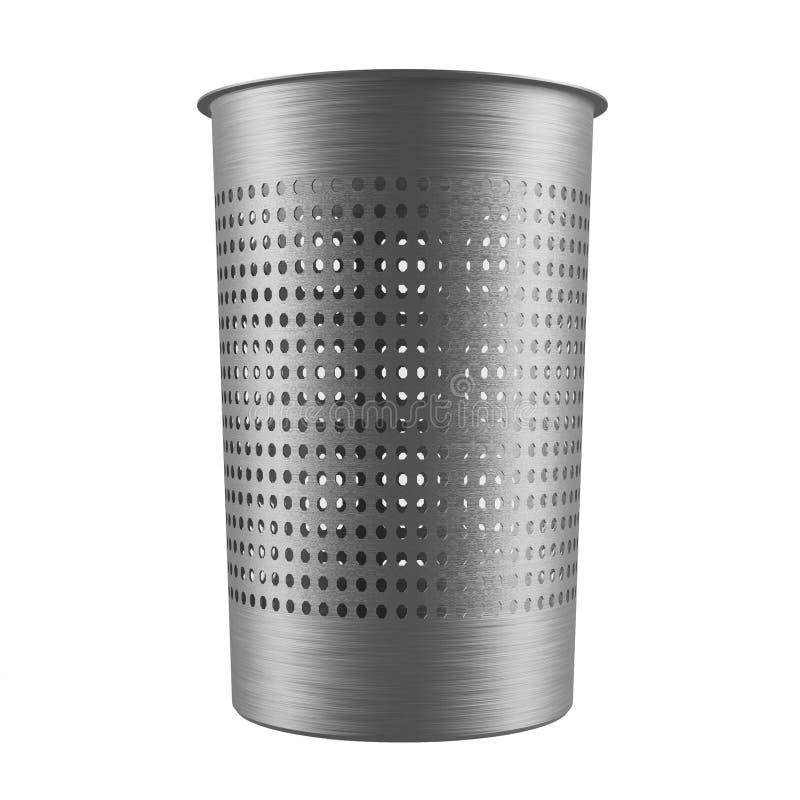 金属垃圾桶。被隔绝的垃圾箱 皇族释放例证