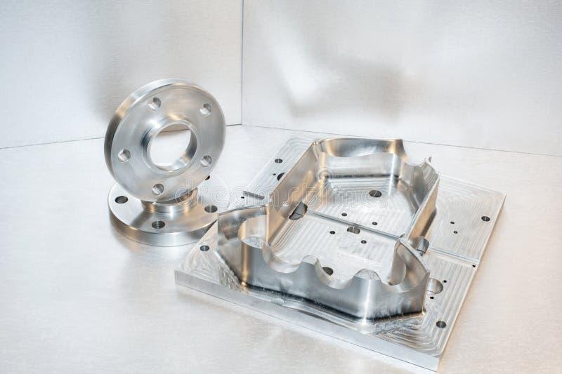 金属型和钢耳轮缘。制粉工业 库存图片