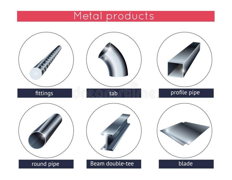 金属外形和管 库存例证