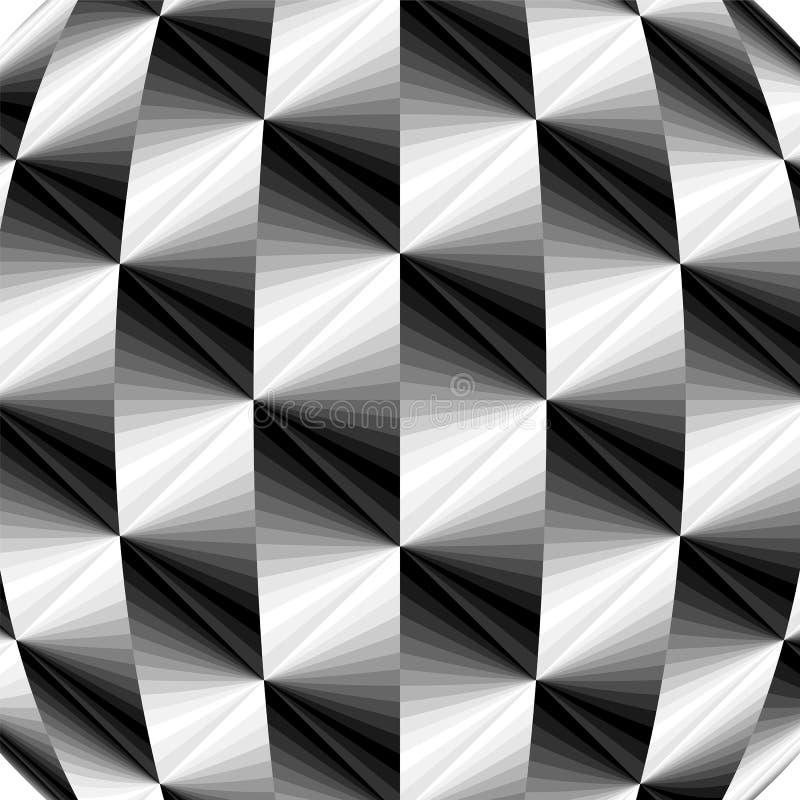金属多角形几何样式 淡光从黑暗的凹面背景点燃口气造成光学容量影响 向量例证
