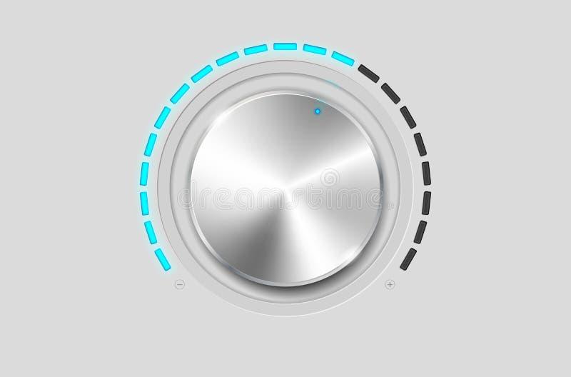金属容量按钮 库存例证