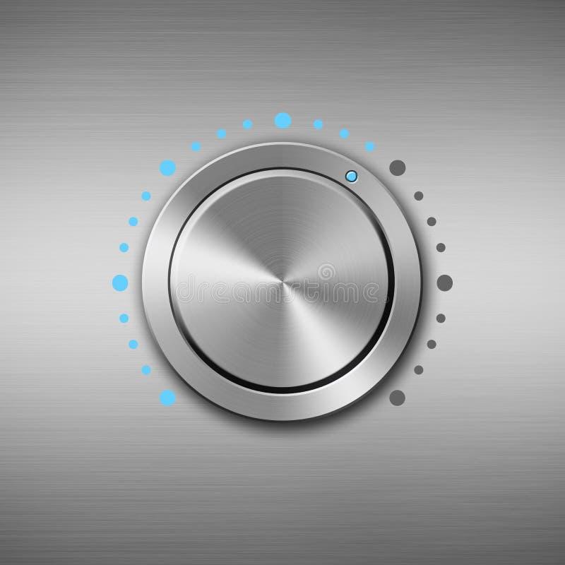 金属容量按钮 向量例证