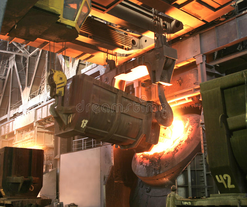 金属工厂 免版税库存照片