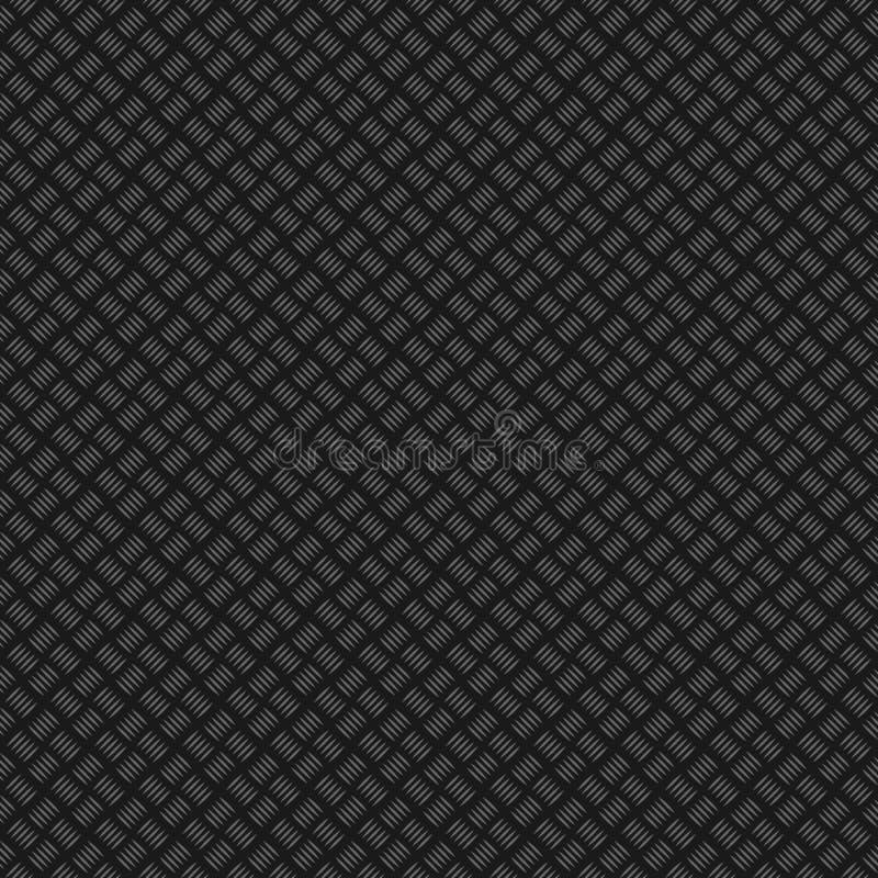 金属引起的夹子纹理 无缝的模式 不锈的板材纹理 向量例证
