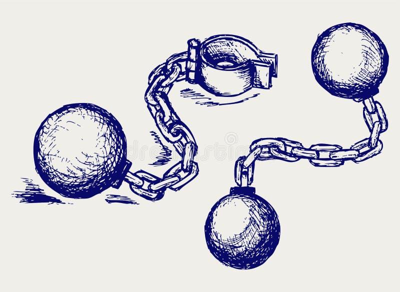 金属手铐 库存例证