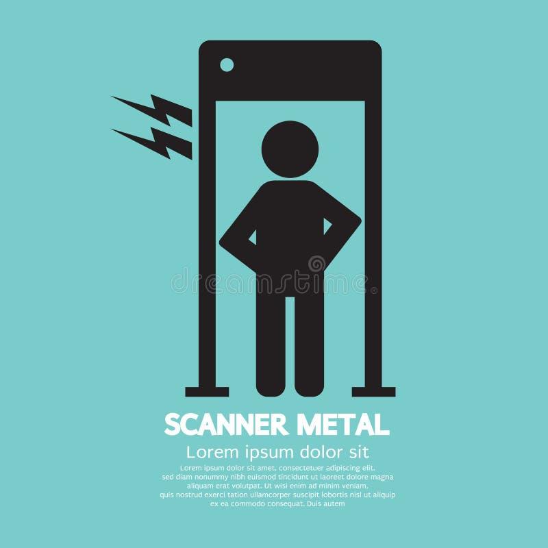 金属扫描器门 皇族释放例证