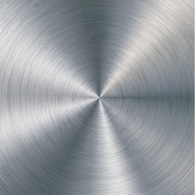 金属抽象技术背景 与优美,掠过的纹理,镀铬物,银,钢的铝,设计的 库存例证