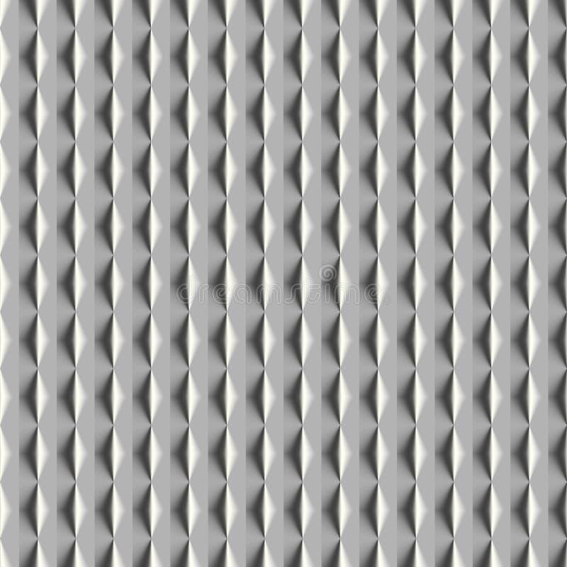 金属无缝的样式3D 向量例证