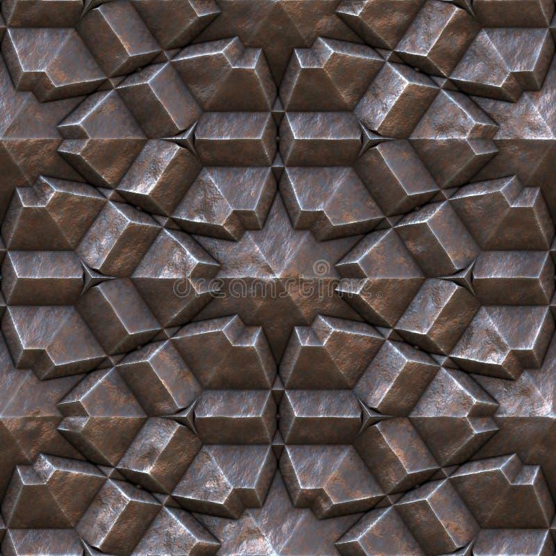 金属无缝的纹理 向量例证